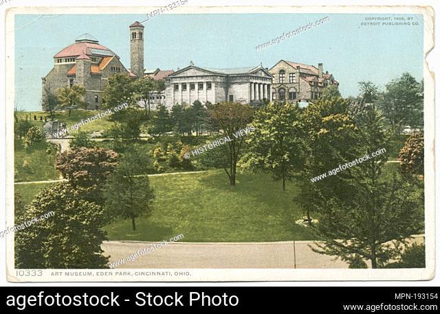 Art Museum, Eden Park, Cincinnati, Ohio. Detroit Publishing Company postcards 10000 Series. Date Issued: 1898 - 1931 Place: Detroit Publisher: Detroit...