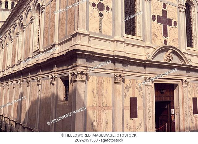 Church of Santa Maria Dei Miracoli. Known as the 'marble church' it was built between 1481- and 1489 by Pietro Lombardo. It is an example of early Venetain...