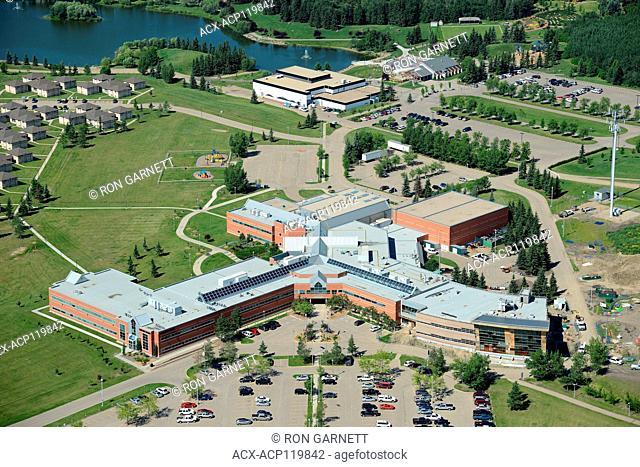 aerial, Lakeland College, Lloydminster, Alberta, Canada
