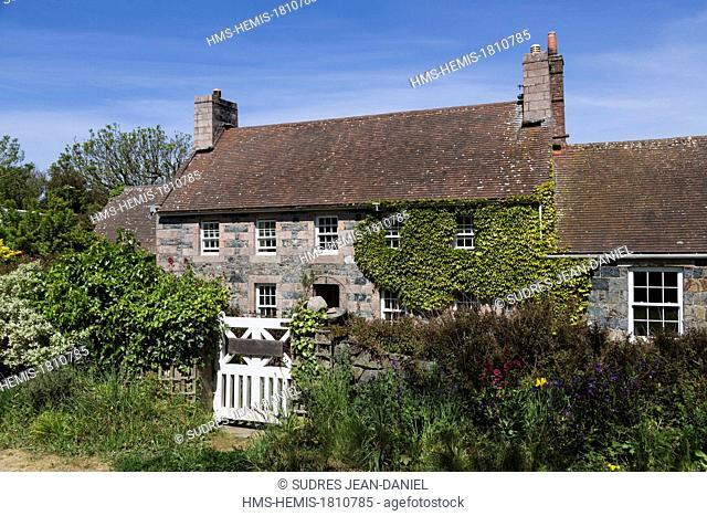 United Kingdom, Channel Islands, Sark island (Sercq) old house on the island