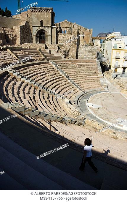 Teatro Romano  CARTAGENA CIUDAD region Murcia ESPAÑA Roman Theater CARTAGENA CITY Murcia region SPAIN