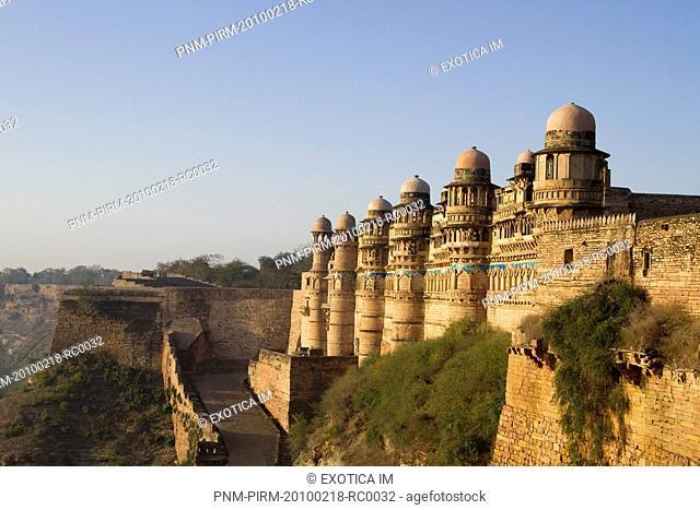Fort in a city, Gwalior Fort, Gwalior, Madhya Pradesh, India