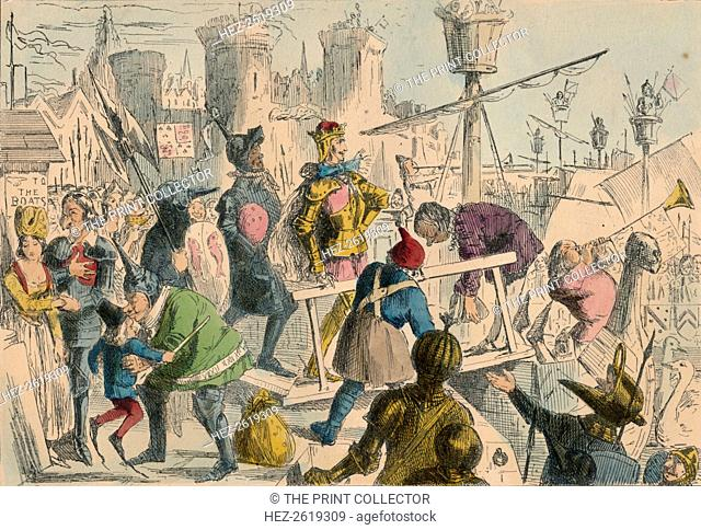 Embarkation of King Henry the Fifth at Southampton. A.D. 1415, 1850. Artist: John Leech