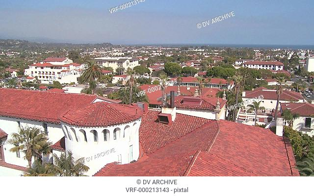 A high angle view over Santa Barbara, California
