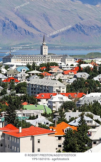 View from Perlan over the city of Reykjavik, Iceland