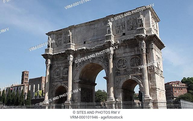 Daylight, LA, PAN on the southern side of the triumphal arch, situated between the Coliseum and the Palatine Hill. It was built in 315 AD and consists of three...
