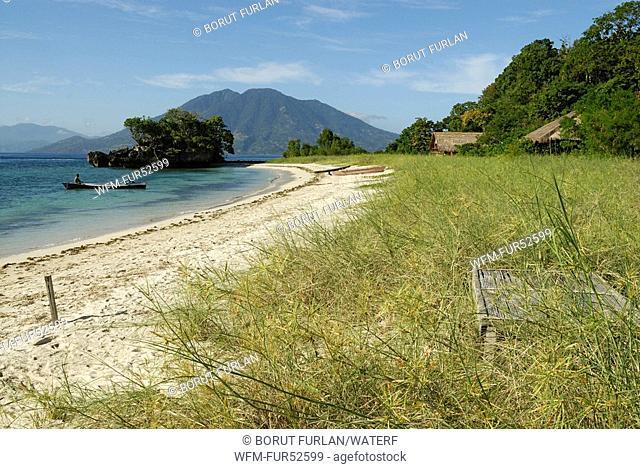 Beach on Pantar Island, Alor Archipelago, Lesser Sunda Islands, Indonesia