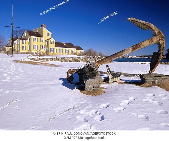 Large anchor on display at the Wentworth-Coolidge Mansion is the former home of New Hampshire's first royal governor, Benning Wentworth  Benning Wentworth...
