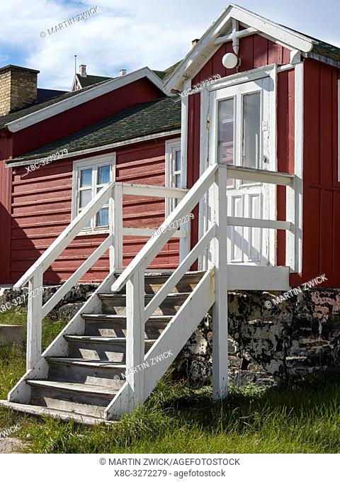 The local museum. The town Uummannaq in the north of West Greenland, located on an island in the Uummannaq Fjord System. America, North America, Greenland