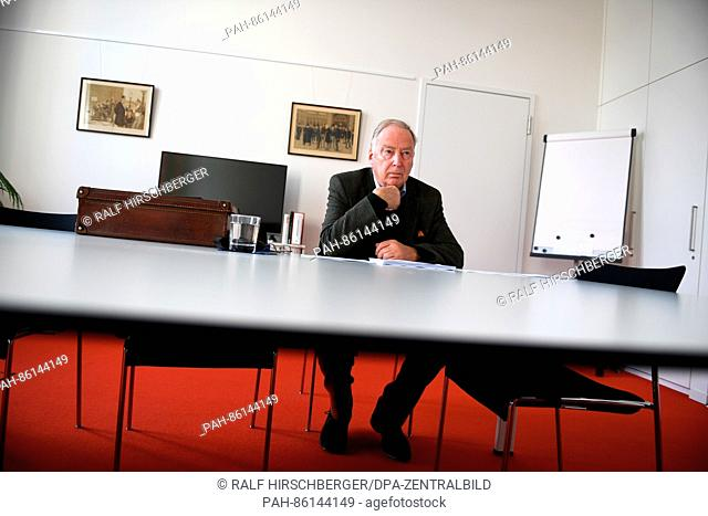 The chairman of the rightwing German nationalist party Alternative for Germany (AfD) Alexander Gauland during an interview in his office in Potsdam, Germany