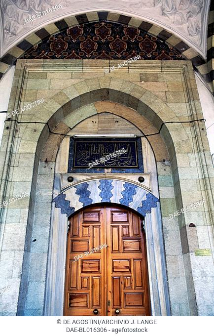 Entrance portal to the Gulbahar Hatun Camii or Hatuniye Mosque. 1514, Trabzon, Black Sea region, Turkey. Ottoman civilization, 16th century