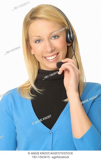 Attractive Female Telephone Operator or Customer Service