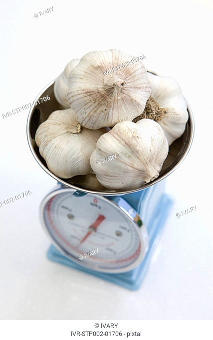 Garlic On Weighing Scale