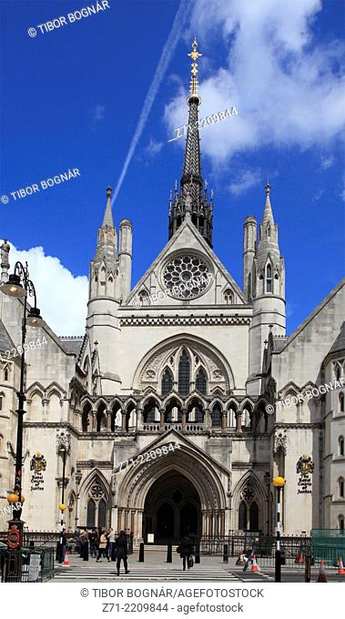 UK, England, London, City, Royal Courts of Justice,