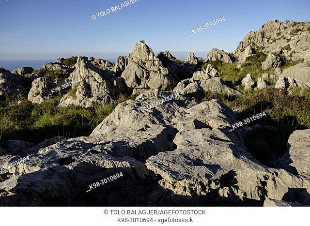 relieve karstico, finca publica de Mortix, Lavanor, Escorca, Mallorca, balearic islands, Spain