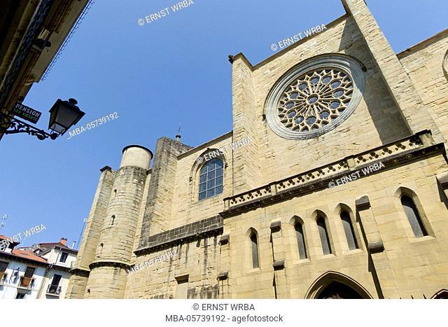 Church San Vicente, Old Town, Donostia-San Sebastián, Gipuzkoa, the Basque Provinces, Spain