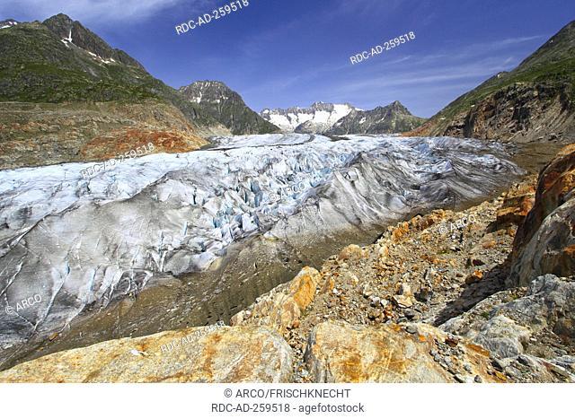 Mountain Wannenhorn Aletsch Glacier Valais Switzerland Wannenhörner
