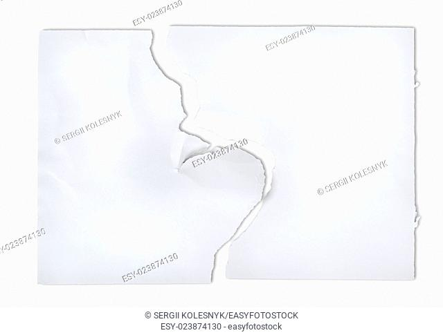 Torn piece of old Paper ready to accept any message. Clipping Path