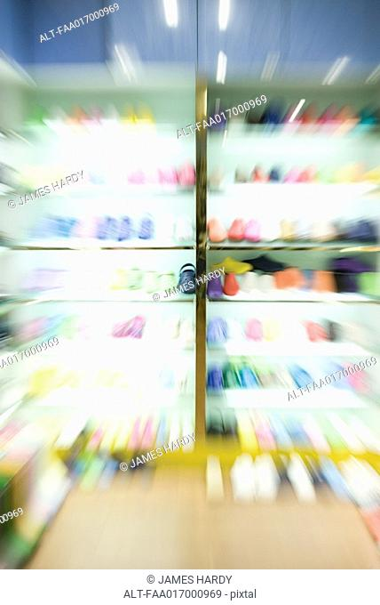 Shoe store, blurre