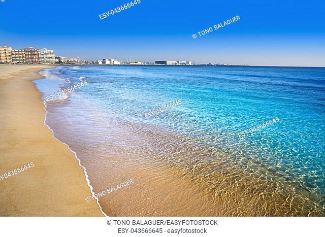 Santa pola Gran Playa beach Lisa in Alicante of Spain at Costa Blanca