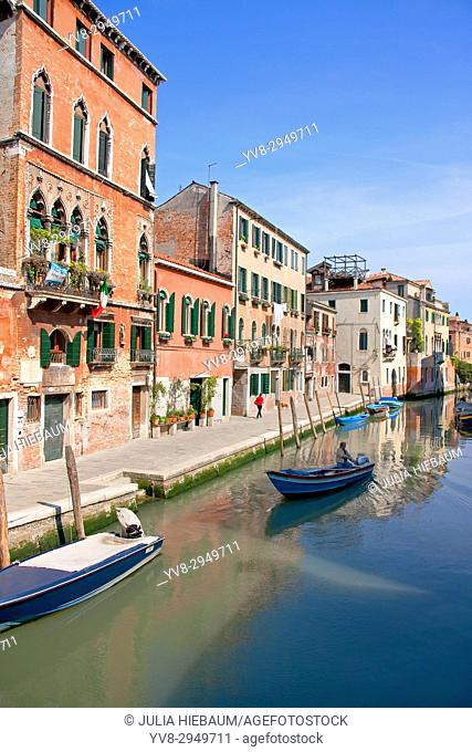 The Cannaregio Quarter in Venice, Italy