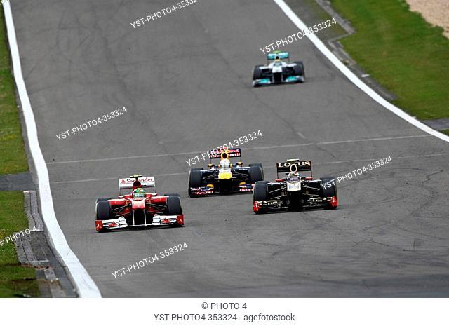 Felipe Massa, Sebastian Vettel, Vitaly Petrov, Formula One, German Grand Prix, Nurburgring, Germany