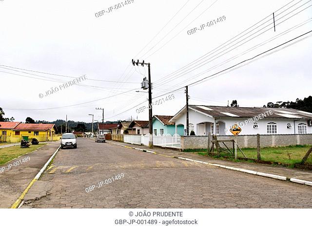 Houses, street, City, 2017, Rio Rufino, Santa Catarina, Brazil