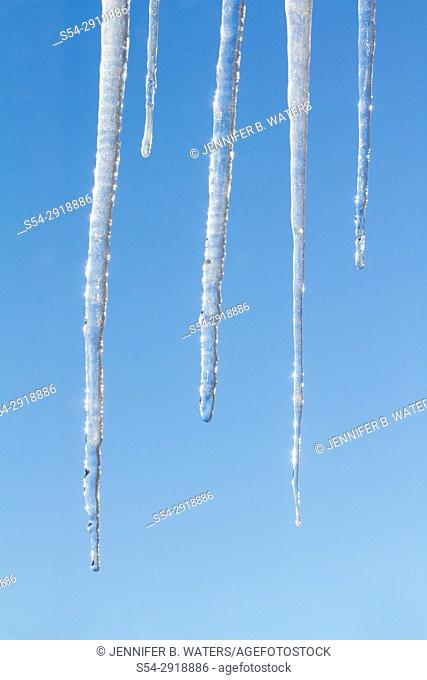 Icicles on a clear day