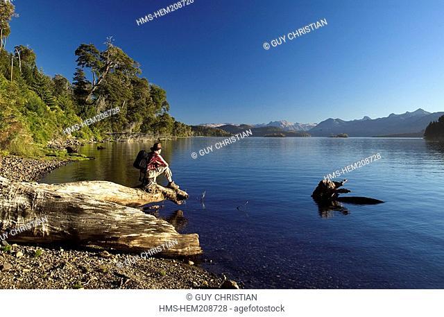 Argentina, Neuquen Province, Nahuel Huapi Lake, Nahuel Huapi National Park near San Carlos de Bariloche