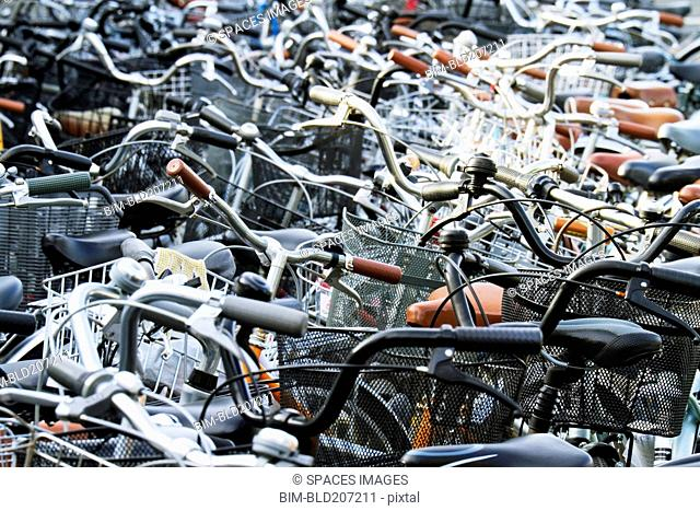 Mass of Parked Bicycles