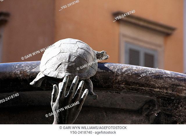 Fontana delle tartarughe turtle fountain in rome italy