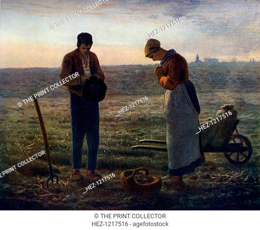 'The Angelus', 1857-1859, (1912). A colour print from Famous Paintings, with an introduction by Gilbert Chesterton, Cassell and Company, (London, New York