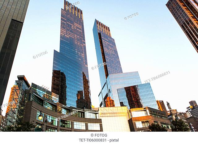 USA, New York City,Time Warner Center and skyline