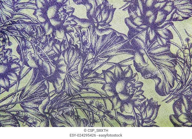 abstract flora cloth pattern