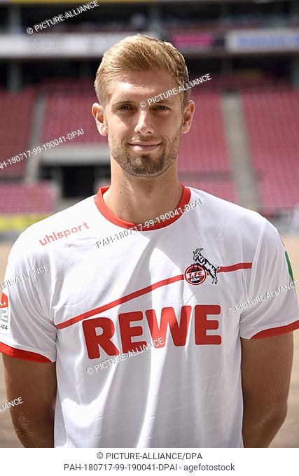 09 July 2018, Germany, Cologne: Second Bundesliga, photo shoot of 1. FC Cologne for the 2018/2019 season at the RheinEnergie stadium