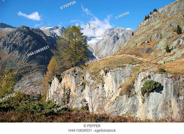 Switzerland, Europe, Canton Valais, Bellwald, Goms, Aletsch area, landscape, mountain, mountains, alps, alpine