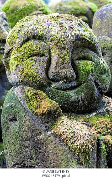 Rakan (disciples of Shaka, the founder of Buddhism) Buddhist images, Otagi Nenbutsu-ji Temple, Arashiyama, Kyoto, Japan, Asia