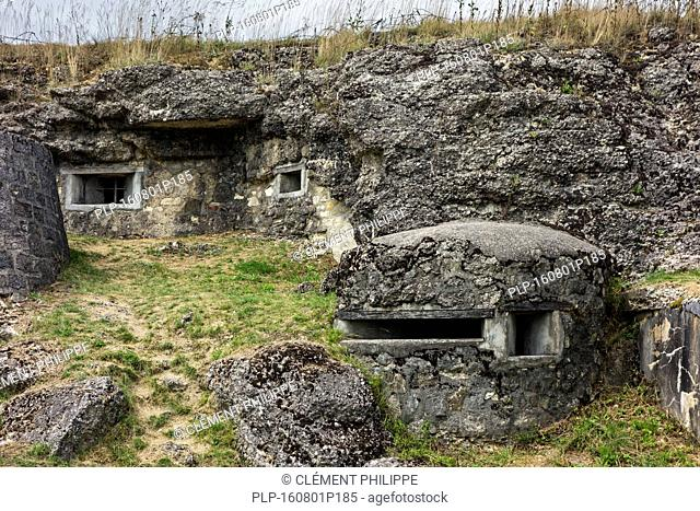 Loopholes in the First World War One Fort de Douaumont, Lorraine, Battle of Verdun, France