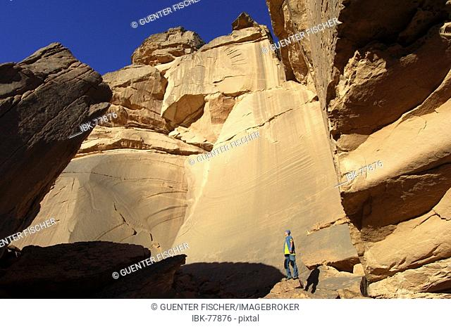 In the rocks of the Acacus Mountains Libya