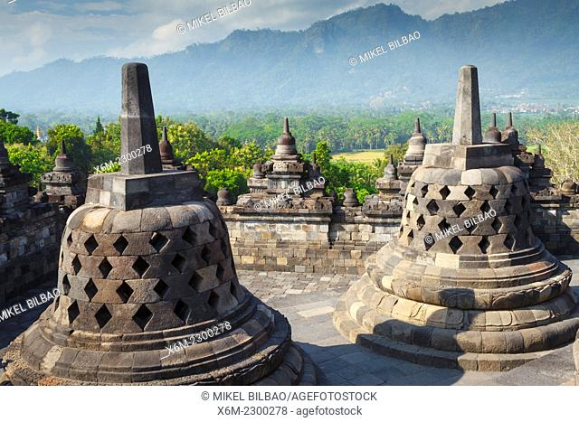 Borobudur buddhist temple. Magelang, Java. Indonesia, Asia