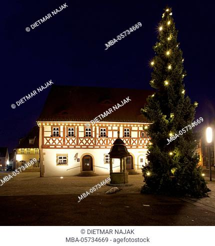 historic town hall of 1561 in Gochsheim, district of Schweinfurt, Lower Franconia, Bavaria, Germany