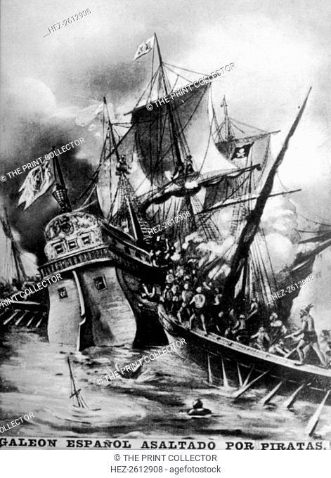 Spanish Galleon assaulted, (17th century ), 1920s