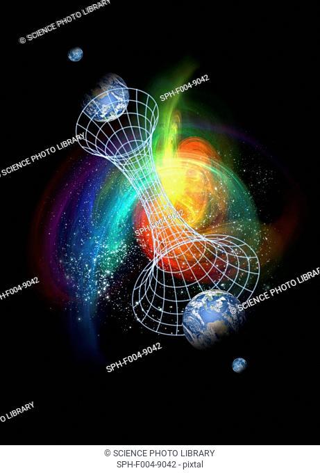 Parallel universes, conceptual computer artwork