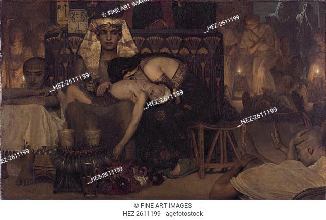 Death of the Pharaoh's Firstborn Son, 1872. Artist: Alma-Tadema, Sir Lawrence (1836-1912)