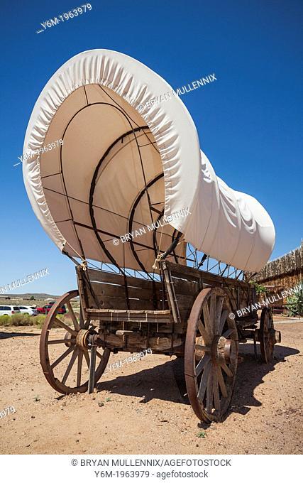 Old prairie covered wagon, VIrgin, Utah