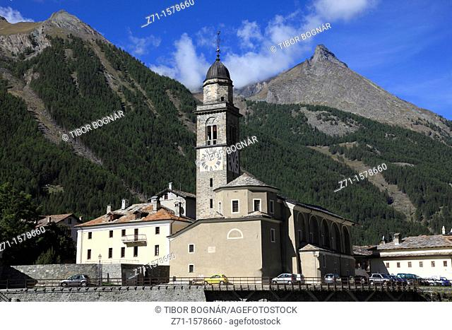 Italy, Aosta Valley, Cogne, church