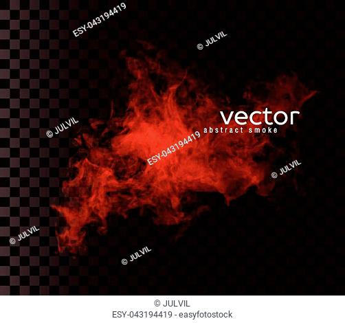 Vector illustration of smoky shape. Isolated transparent special effect