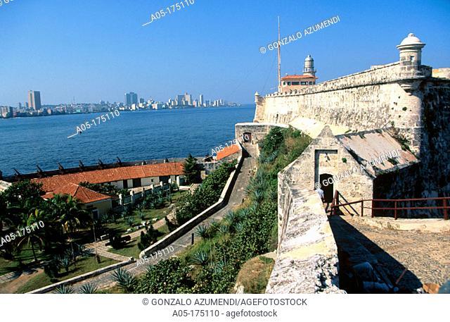 Fortress of El Morro, Havana in background, Cuba