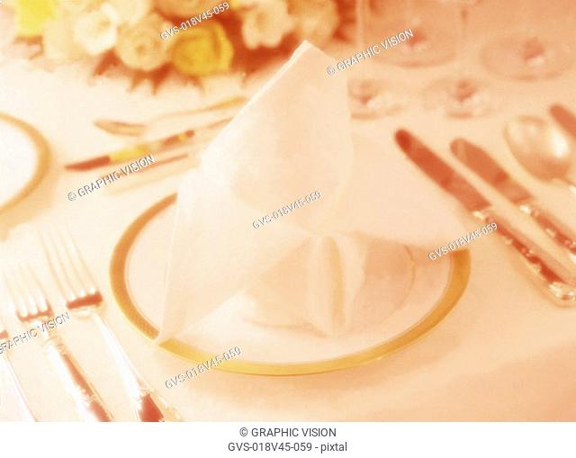 Close Up of a Place Setting on a Table