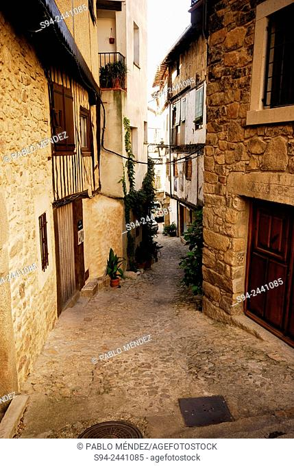 Pedestrian street of Mogarraz, Salamanca, Spain